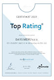 certifikát Top Rating